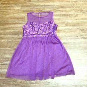 Pretty purple sequin party dress!